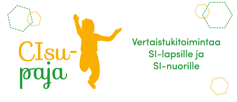 """Kuvassa CIsupaja logo, vieressä lukee """"vertaitukitoimintaa SI-lapsille ja SI-nuorille"""""""