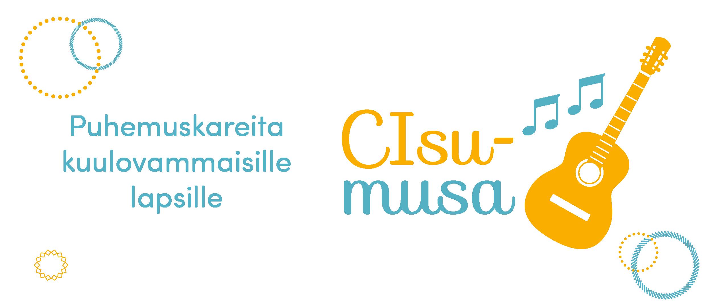 """Kuvassa CIsumusan logo ja teksti """"Puhemuskareita kuulovammaisille lapsille"""""""